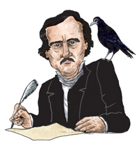 Advice from Edgar Allan Poe's crypt