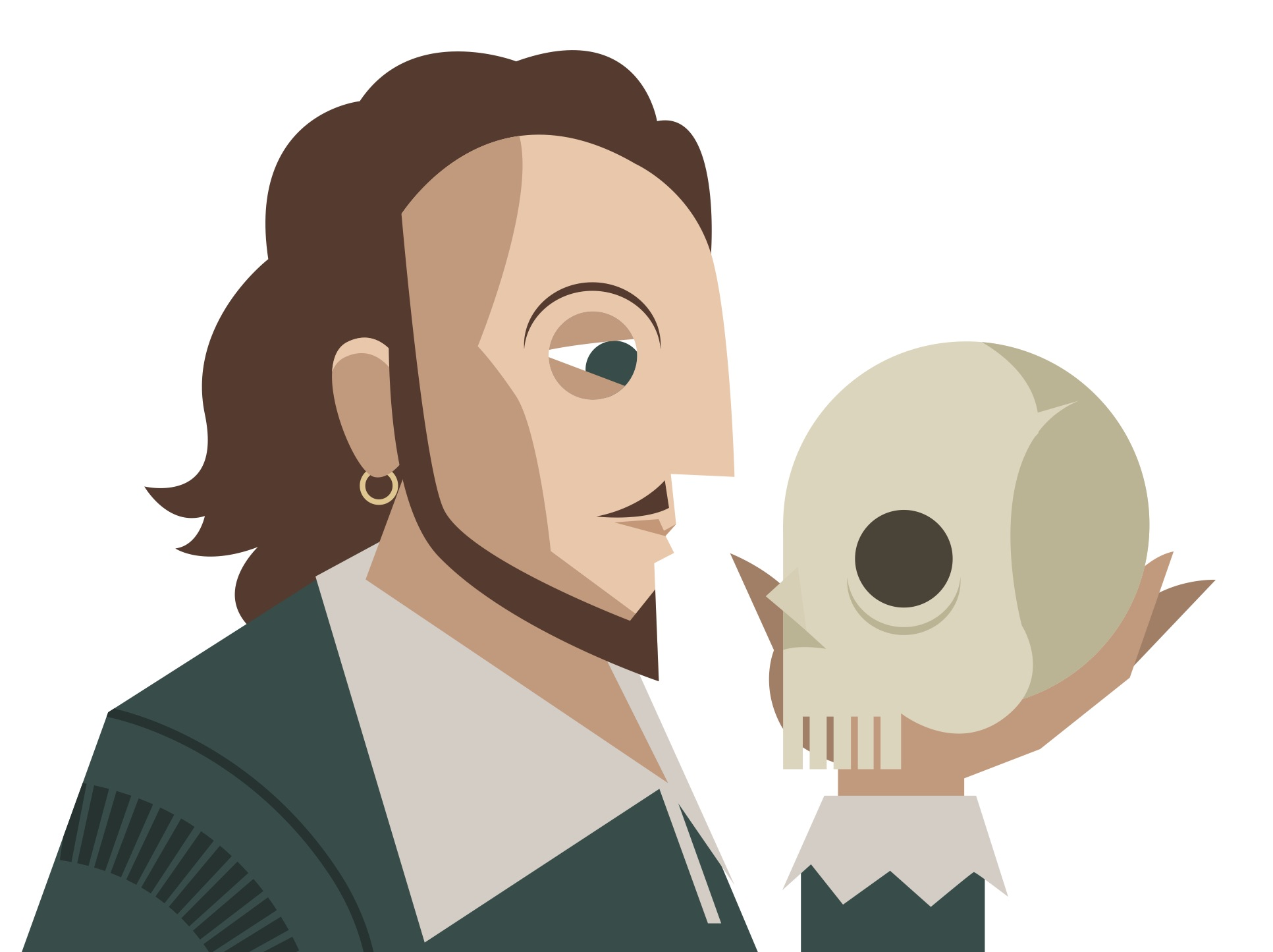 Routing out be verbs with Shakespeare and a Hamlet skull