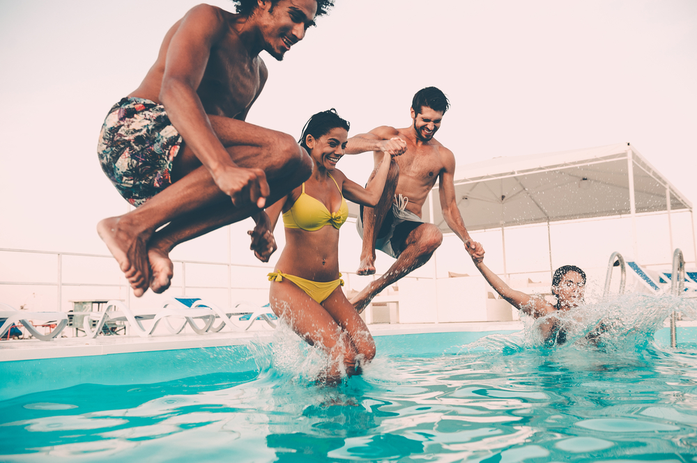 Pool party August writing prompt