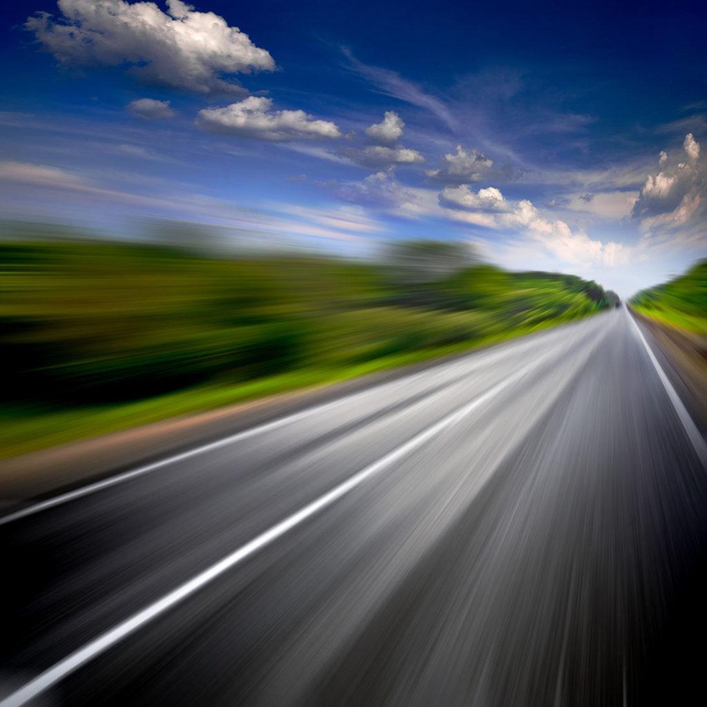 A car whizzes down Memory Lane
