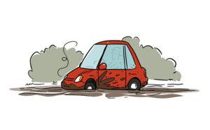 Car Stuck in Mud