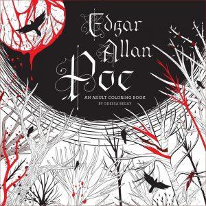 Coloring book for Edgar Allan Poe fans