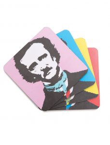 Coasters for Edgar Allan Poe fans