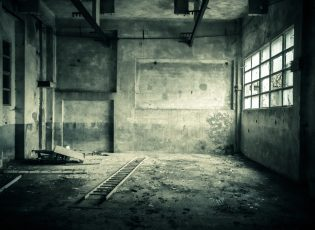 An abandoned building makes a good setting for a Halloween writing prompt