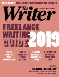 December 2018 issue of The Writer