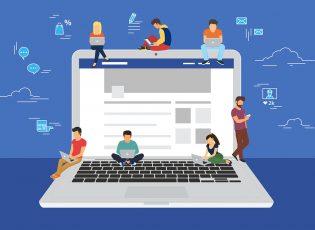 People reading websites
