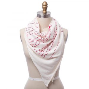 """E.E. Cummings """"i carry your hart with me,"""" scarf"""