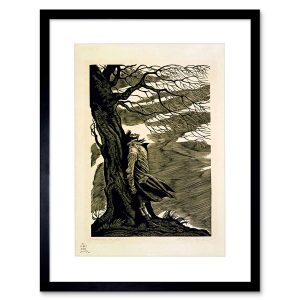 Print of Heathcliff on the moors.