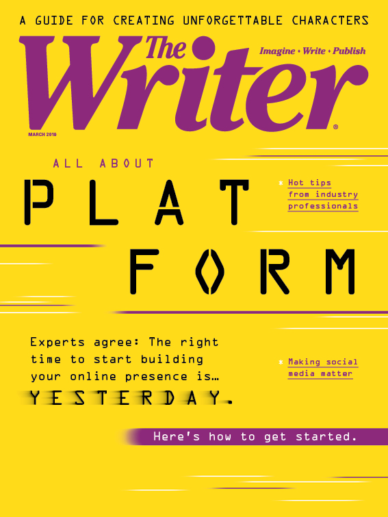 March 2019 issue cover of The Writer