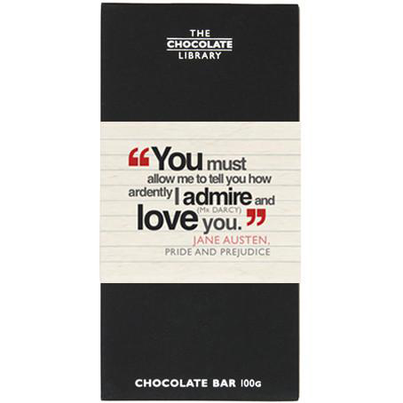 """Pride & Prejudice"" inspired chocolate"