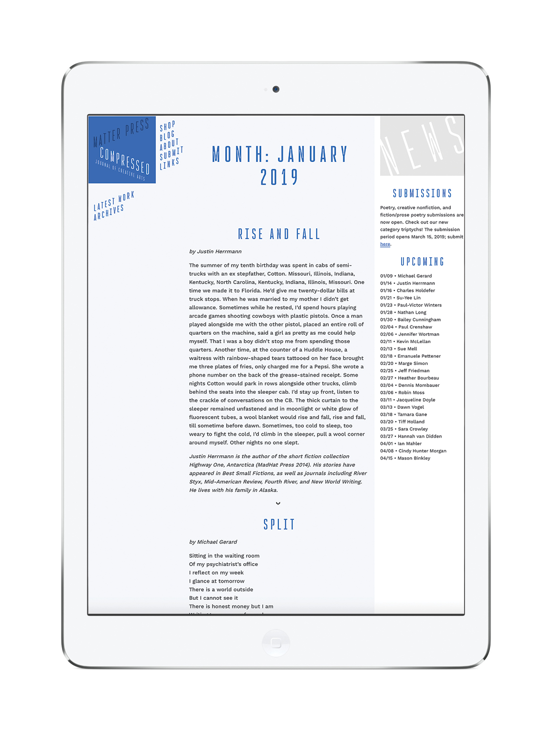 The Journal of Compressed Creative Arts