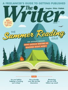 June 2019 issue cover of The Writer magazine