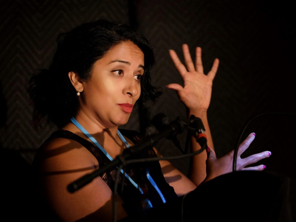 Shanti Sekaran at the Santa Barbara Writers Conference in 2017