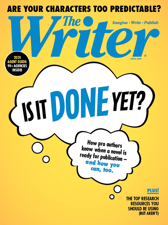 April 2020 issue of The Writer Magazine