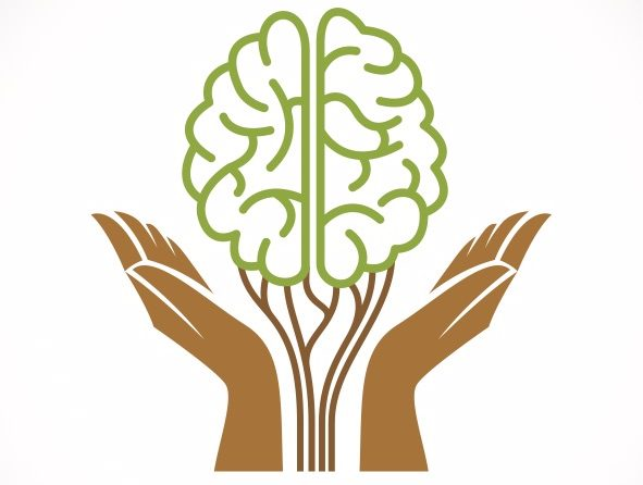 How adopting a growth mindset can help you grow as a writer. This illustration shows a pair of hands cradling a brain drawn so it resembles a growing plant.
